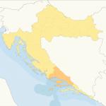 Karte Mitteldalmatien