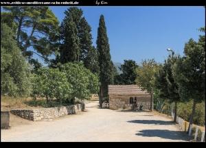 Eingangsbereich der Ausgrabungsstätte