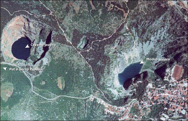 Der Crveno und Modro Jezero von Oben
