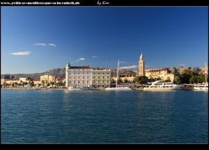 Im Hafen von Split - Blick auf die traumhafte Altstadt