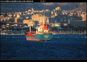 Türkisches Frachtschiff vor Split