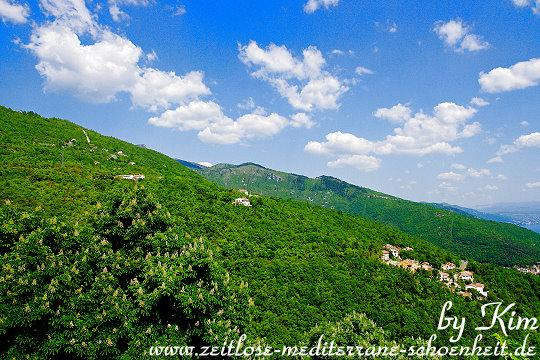 Blick in Richtung Učka-Gebirge