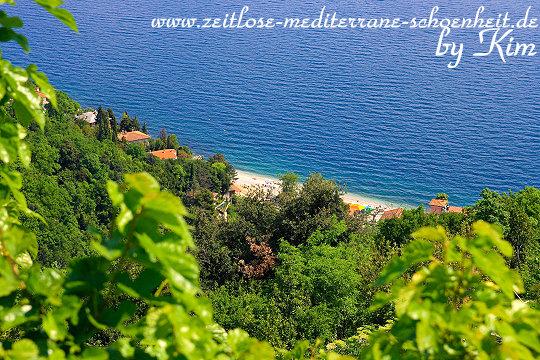 Blick auf den Strand von Mošćenička Draga