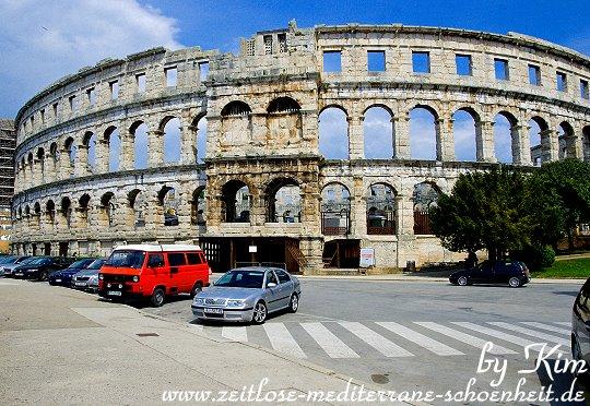 Panorama der Arena von Pula