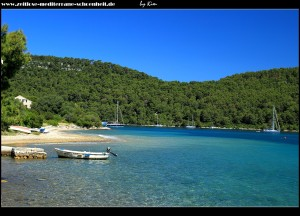 Blick zur Bucht Lanđina