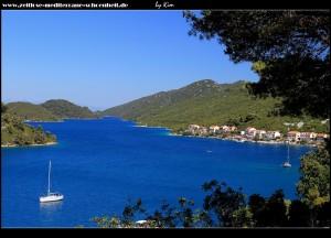 Blick auf Polače und seine vorgelagerten Inselchen