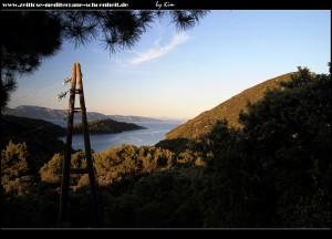 Blick auf Pelješac und das Festlandgebirge