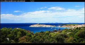 Traumhafter Blick auf Primošten und die Inselwelt von Šibenik