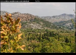 Blick nach Osten auf Stupa und Ošlje