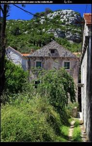 Das Dorfzentrum rund um den Wehrturm