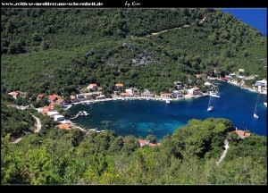 Blick auf die wunderschöne Bucht von Okuklje