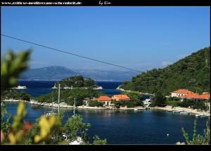 Blick auf die Bucht vom Parkplatz aus