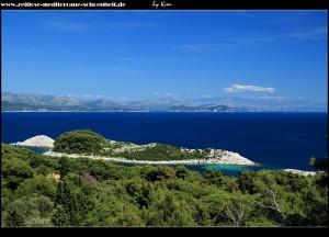 Erster Blick auf Saplunara und die im Osten vorgelagerten Inselchen