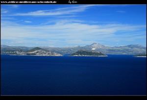 Zwischen Korita und Saplunara mit Blick aufs Festland und die Elafiten