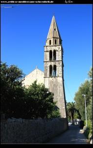 Der Glockenturm der Kirche Sv. Jeronim