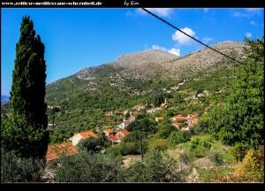 tolle Ausblicke auf die Landschaft und Brsecine von der Straße Trsteno - Majkovi