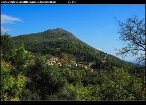 Blick auf Trsteno unterhalb des Bračevo Brdo