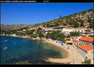 Štikovica mit Strand und schönem Blick in die Bucht von Zaton