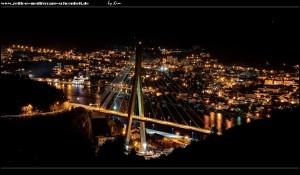 Auf dem Weg nach Osojnik mit Blick auf die Franjo-Tuđman-Brücke