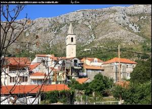 Stara Mokošica - Blick auf den Ortskern mit Pfarrkirche Sv. Spas