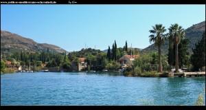 Am Kloster mit Blick auf die Flusslandschaft, Komolac und die Marina