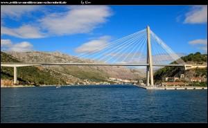 Franjo Tuđmam Brücke und der Ombla Canyon/Rijeka Dubrovačka