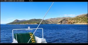 Die tiefe Bucht von Zaton in Sicht