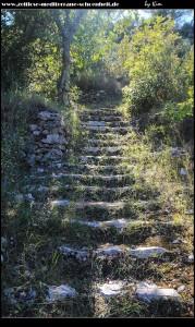 Stufen rauf zur Crkva Sv. Spas