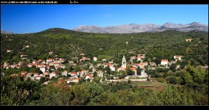 Blick auf Šipanska Luka von der Kirche aus