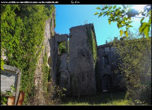 Die Ruinen des bischöflichen Sommersitz Beccadelli