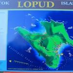 Karte der Insel Lopud