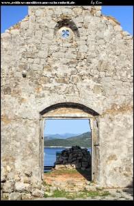 Auf Ivanja Brdo mit tollem Ausblick und der Crkva Sv. Ivan Krstitelj