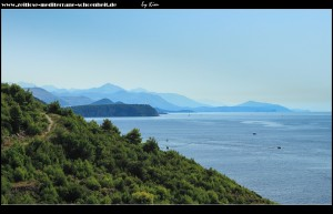 Auf dem Weg runter zur Bucht, mit schönem Ausblick