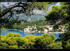 Auf dem Feram mit tollem Blick auf die Steilküste, die Insel Sv. Andrija, sowie Šipan, Pelješac und Mljet