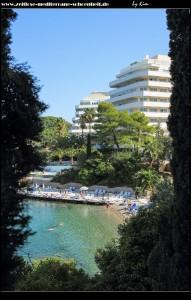 Blick auf das Hotel Lofodia