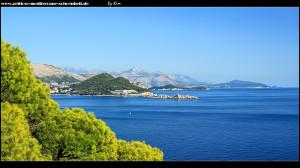 Blick auf die Küste Süddalmatiens bis Montenegro