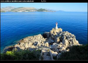 Am Rt Bezdan mit seinem Leuchtturm
