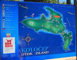 Koločep Map