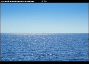 Blick aufs offene Meer von der Fähre aus