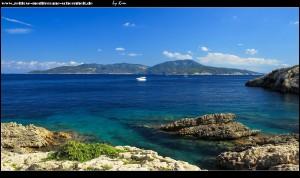 In Mezuporat mit Blick auf die Insel Vis