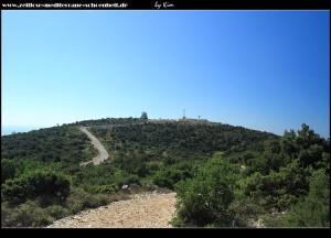 Berg Hum - Blick auf die Radarstation