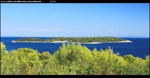 Straße nach Brguljac - Blick auf die Inselchen Sanak und Budikovac