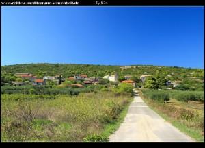 Straße nach Brguljac - Blick zurück auf Podstražje
