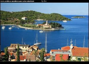 Stadtteil Luka mit Hafen und großem Palmenpark und Prirovo
