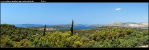 Der Ausblick von der Inselmitte nach Westen lädt zum Träumen ein