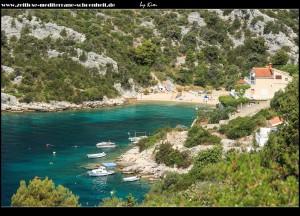 Die wunderschöne Bucht Ljubljeva