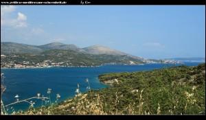 Blick auf die Bucht von Marina in Richtung Osten