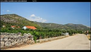 Dorf Vrsine im Hinterland