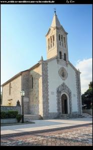 Pfarrkirche Svi Svetih mit tollem Ausblick vom Vorplatz
