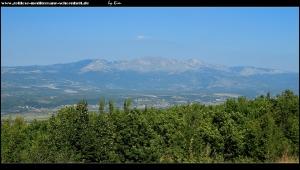 Blick auf das Kamešnica-Gebirge